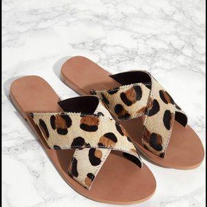 PLT NWT Cheetah strap sandals